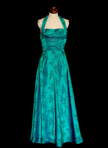 Image result for brocade green gold gown