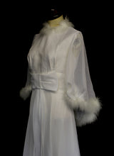 Vintage 1970s Marabou Chiffon Wedding Dress