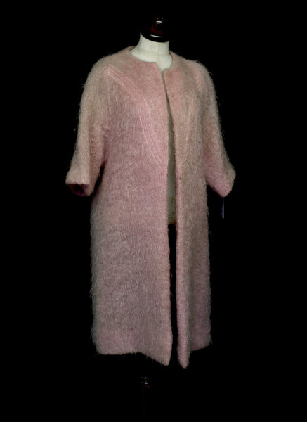 Vintage 1950s Pink Mohair Coat