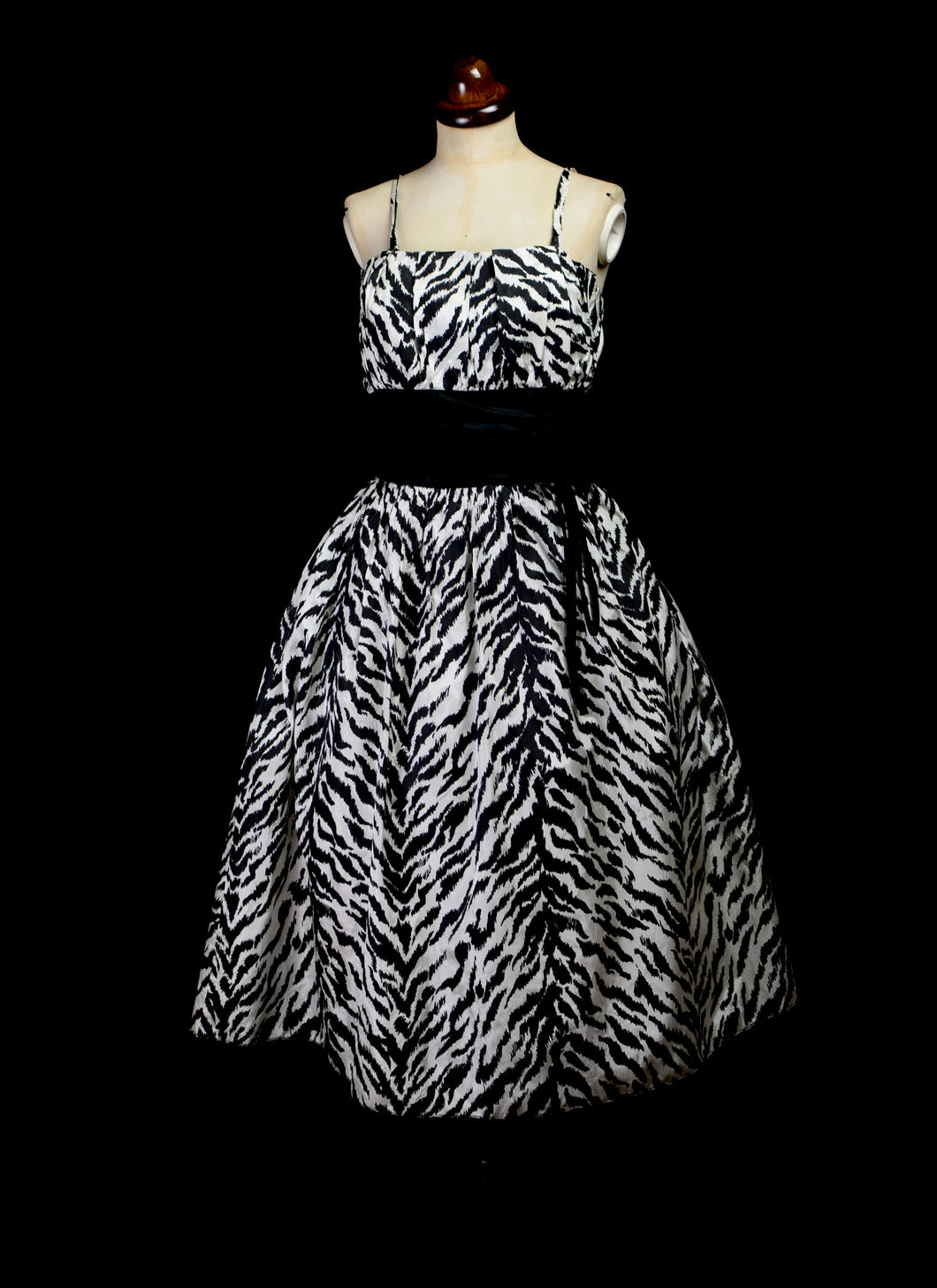 Vintage 1980s Tiger Print Cocktail Dress