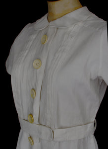 Vintage 1930s White Tennis Dress