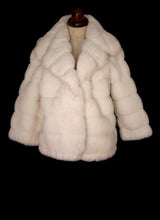 Vintage 1960s White Faux Fur Jacket