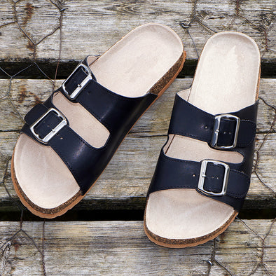 mens branded sandals leather