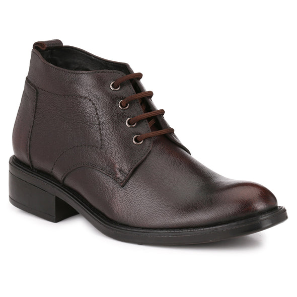Men Brown Genuine Leather Lace up Boots 1012