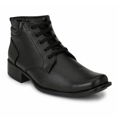 Men Black High Ankle Formal Lace up Shoes 4508