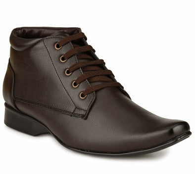 Men Brown High Ankle Formal Lace up Shoes 2017