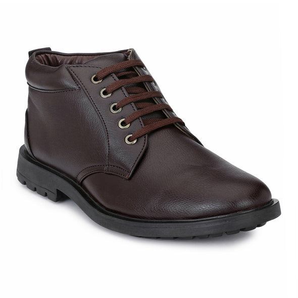 Men Brown High Ankle Casual Lace up Boots 811