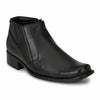 Men Black High Ankle Formal Slip On Chain Shoes 4521