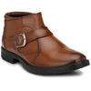 Men Tan High Ankle Formal Slip On Shoes 2814