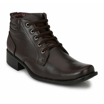 Men Brown High Ankle Formal Lace up Shoes 4508