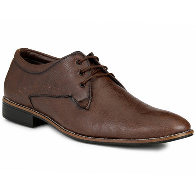 Men Brown Formal Derby Shoes 702