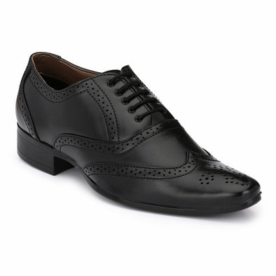 Men Black Formal Brogue Shoes 8912