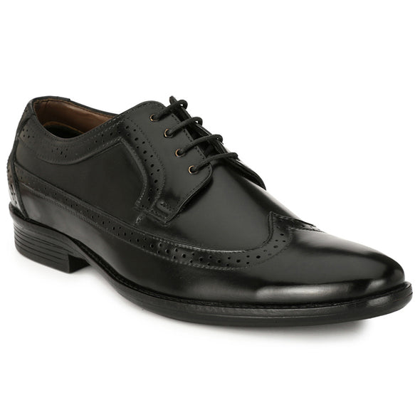 Men Black Formal Brogue Shoes 2703