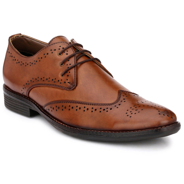 Men Brown Formal Brogue Shoes 2702