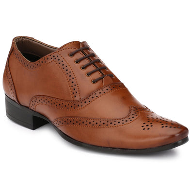 Men Brown Formal Brogue Shoes 8912