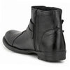 Men Black Genuine Leather Slip On Chain Boots 7036