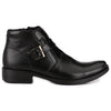 Men Black Genuine Leather Monk Strap & Chain Boots 2931