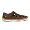 Men Brown Perforated & Grooved Roman Sandals 2903