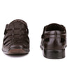 Men Brown Fisherman Hook & Loop Sandals 5501