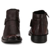Men Brown Genuine Leather Monk Strap & Chain Boots 2931
