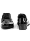 Men Black Glasslook Formal Derby Shoes 2827