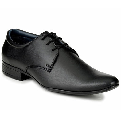 Men Black Formal Derby Shoes fr03
