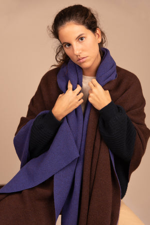 Maxi Wrap - Chocolate y Azul Iris
