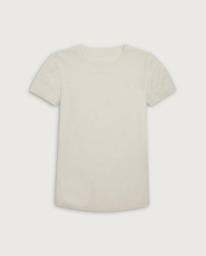 The Cashmere Tee - Off White