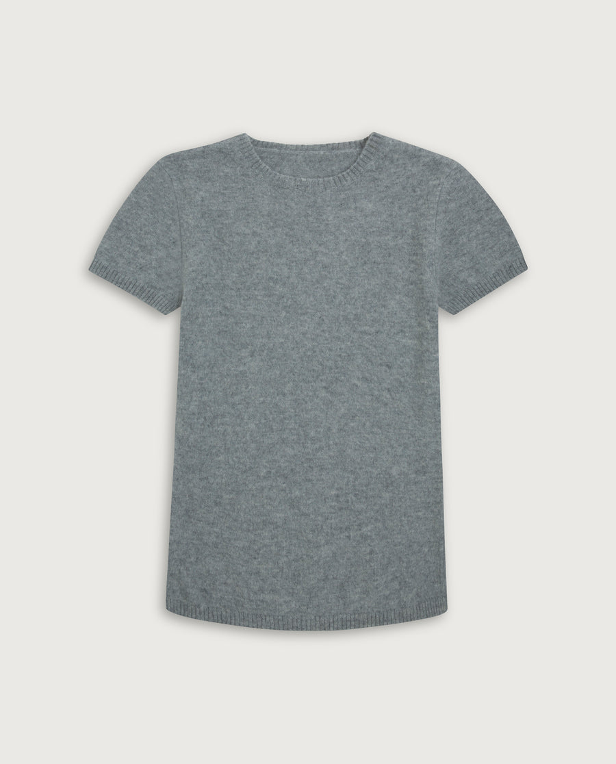 The Cashmere Tee - Light Grey