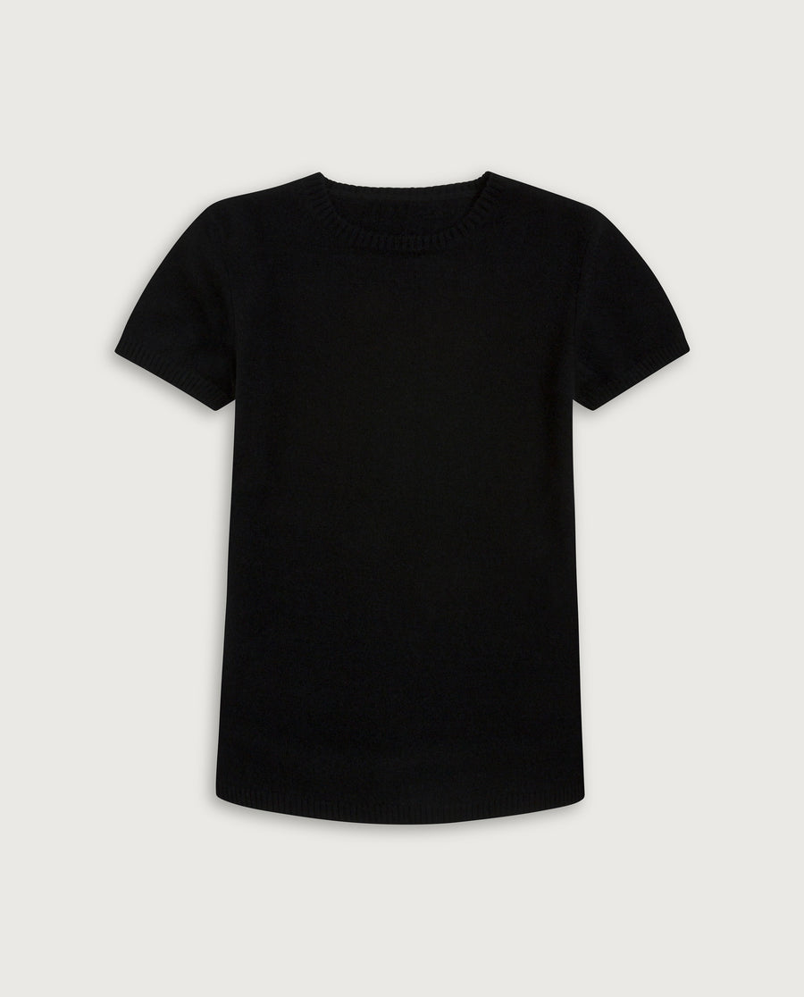 The Cashmere Tee - Always Black
