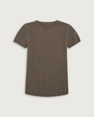 The Cashmere Tee - Natural Sand