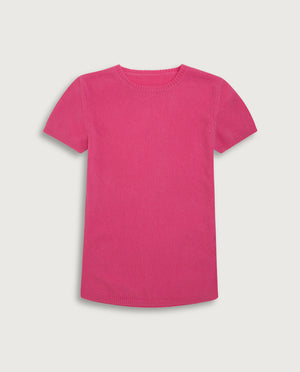 The Cashmere Tee - Happy Pink