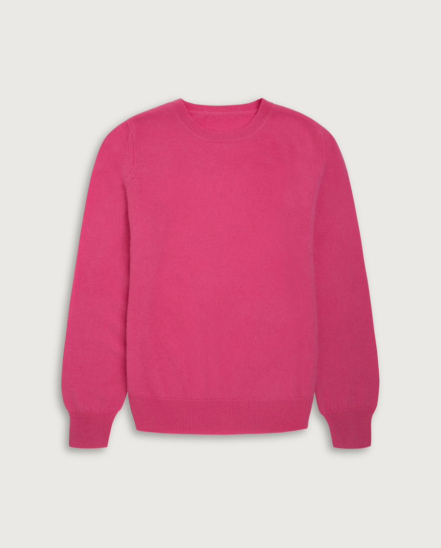 O-Neck Sweater - Happy Pink
