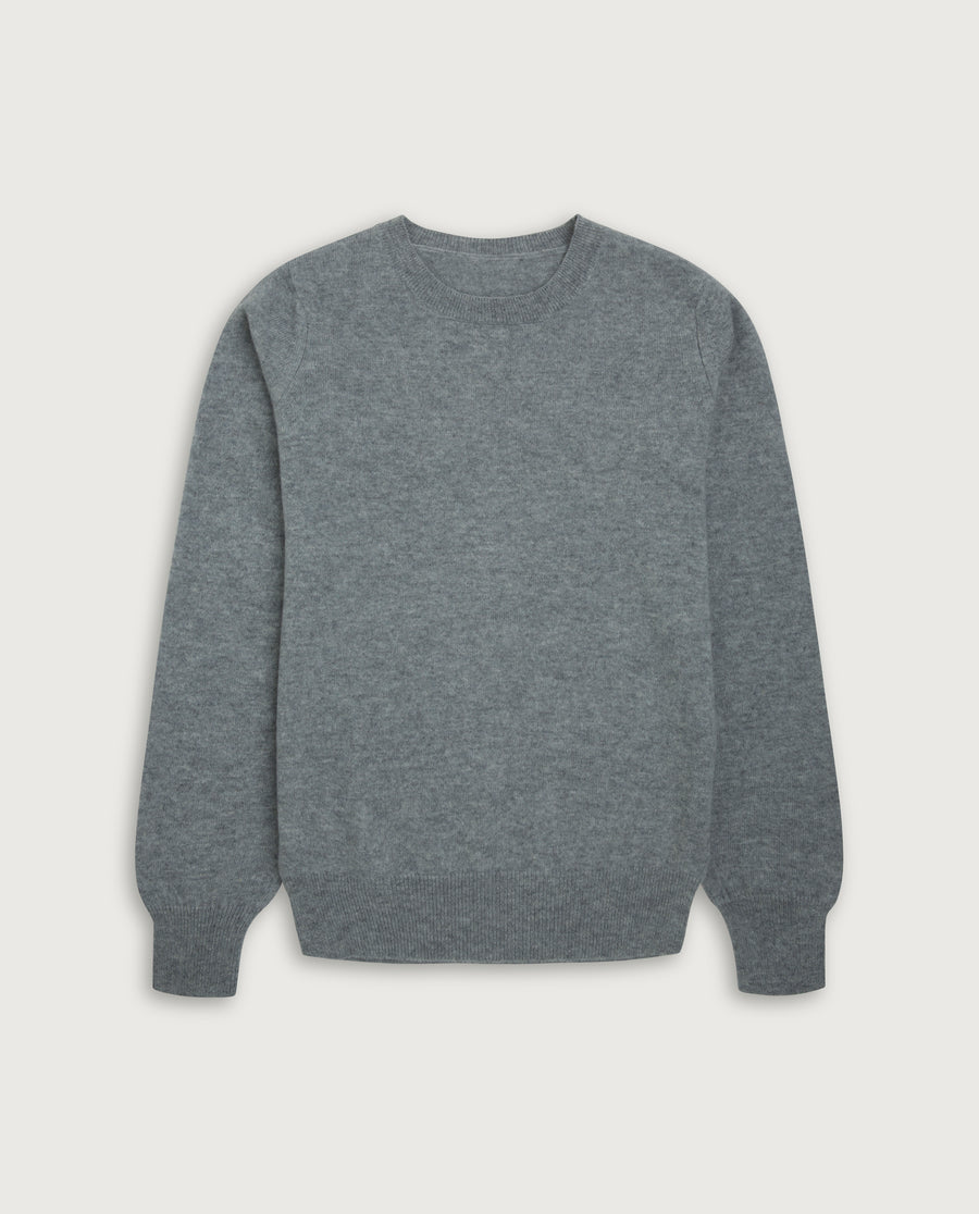 O-Neck Sweater - Light Grey