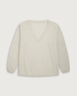 V-Neck Sweater - Off White