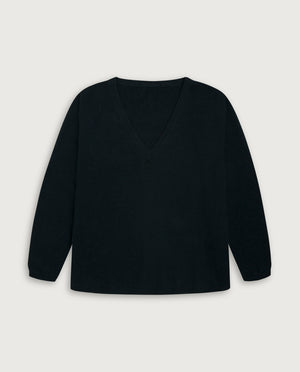 V-Neck Sweater - Elegant Dark Green
