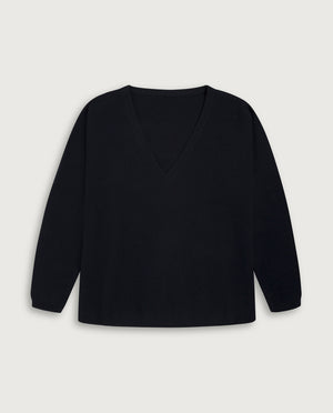 V-Neck Sweater - French Navy Blue
