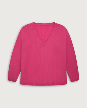 V-Neck Sweater - Happy Pink