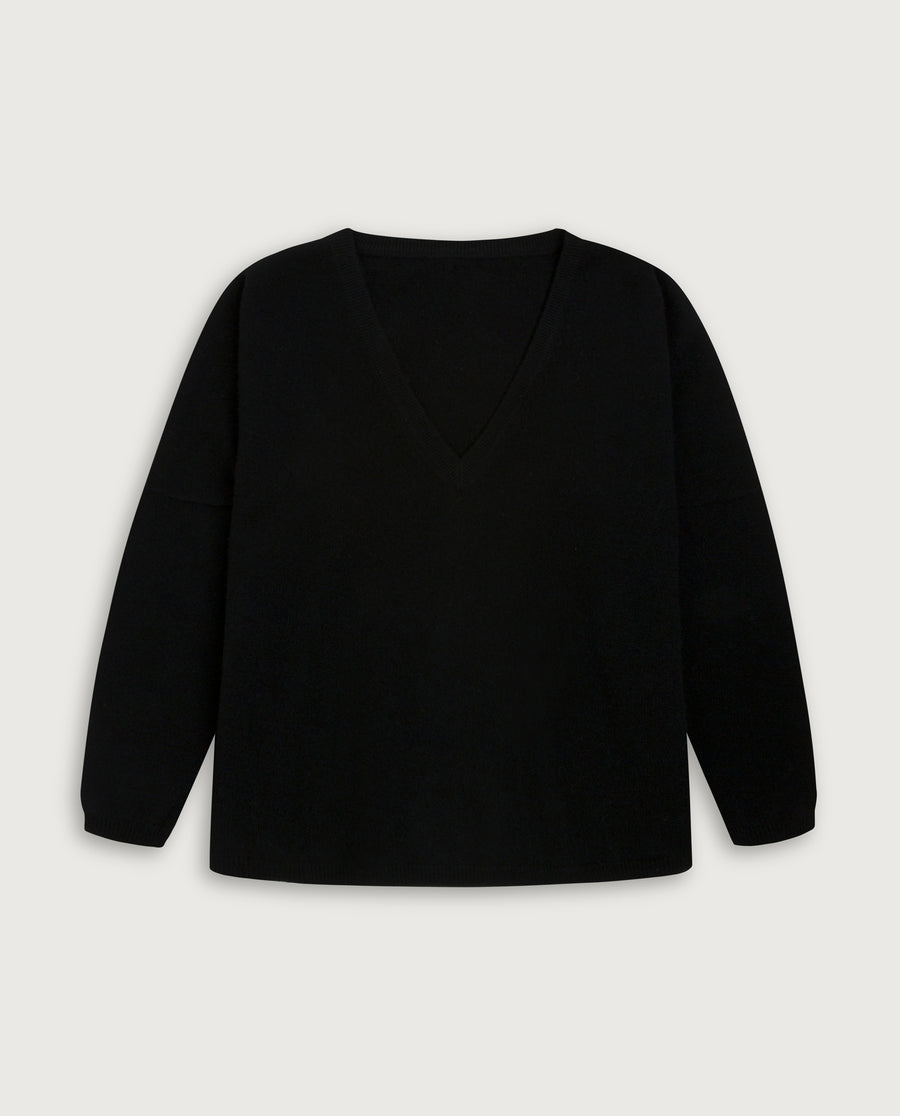 V-Neck Sweater - Always Black