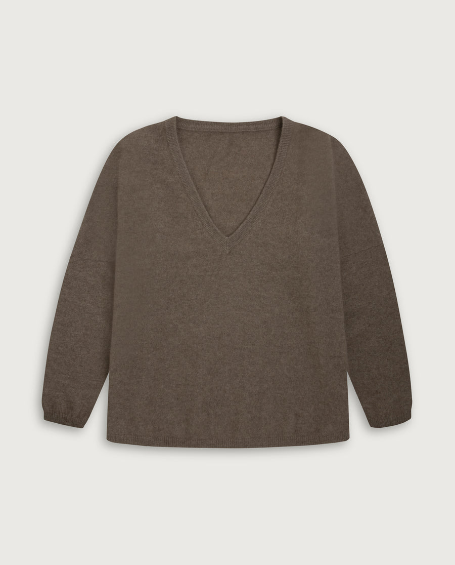 V-Neck Sweater - Natural Sand