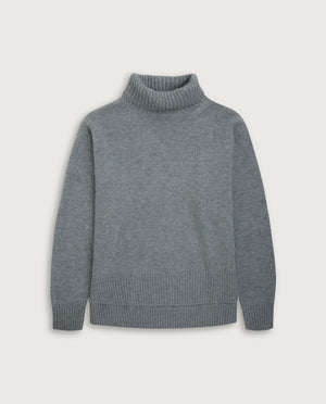 Turtle-Neck Sweater - Light Grey