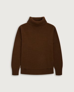 Turtle-Neck Sweater - Milk Chocolate