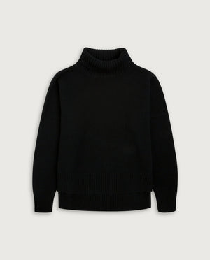 Turtle-Neck Sweater - Elegant Dark Green