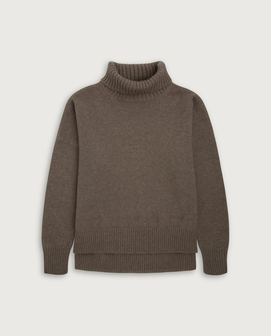 Turtle-Neck Sweater - Natural Sand