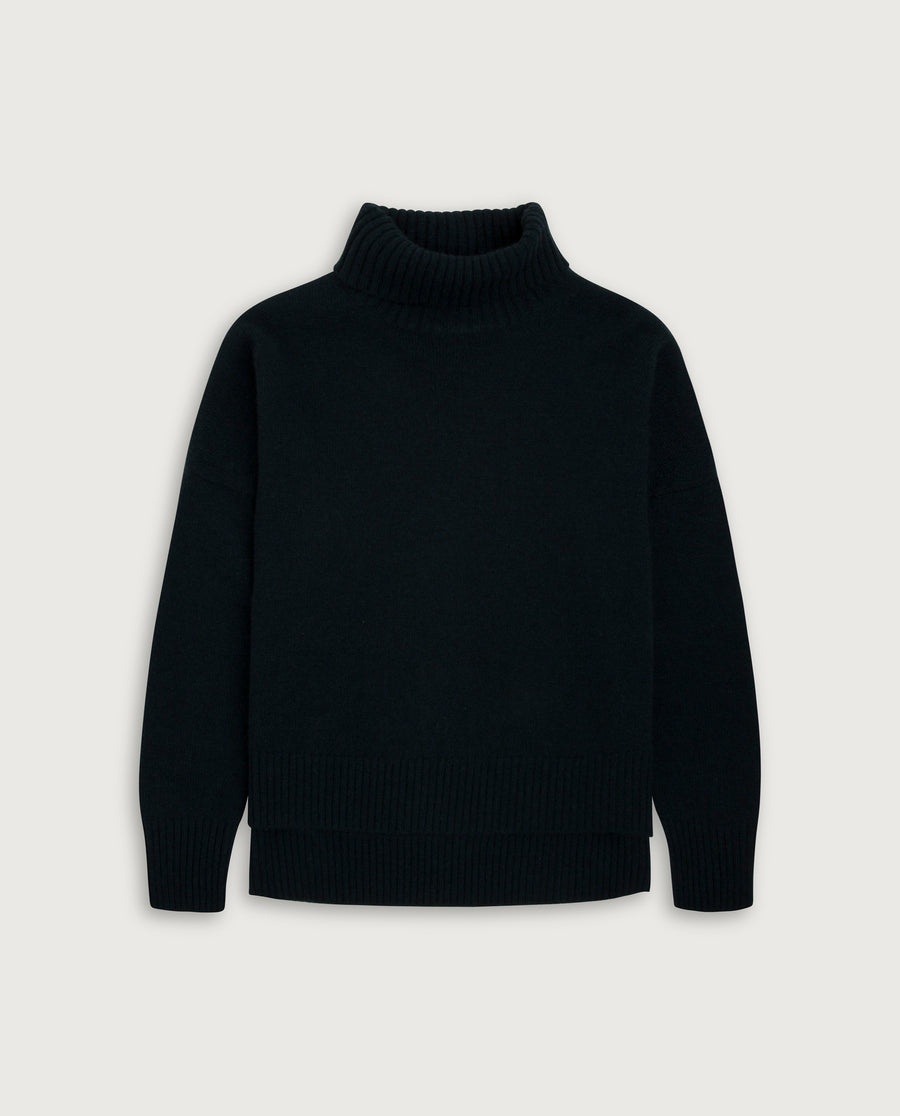 Turtle-Neck Sweater - Always Black