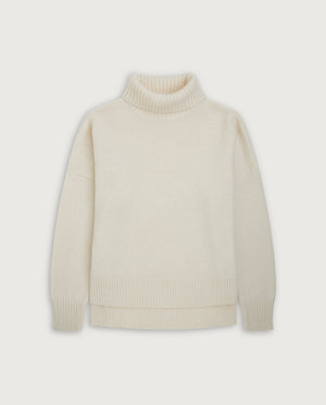 Turtle-Neck Sweater - Off White