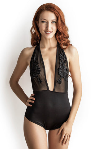 Chloe Bodysuit in Black - Luxe Parisian