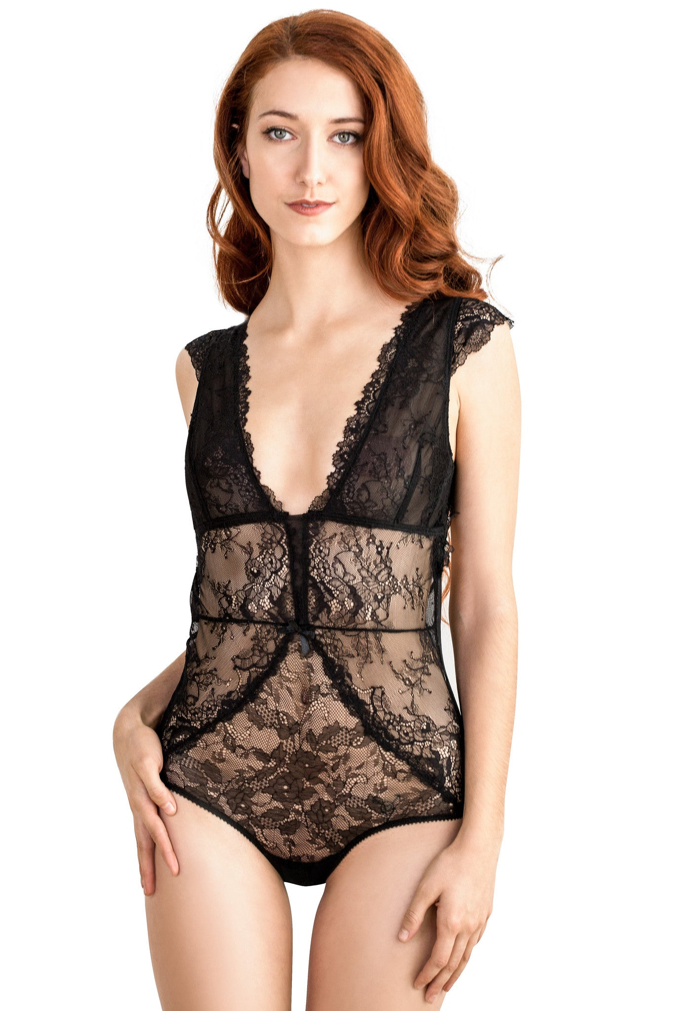Romance Bodysuit in Black - Luxe Parisian