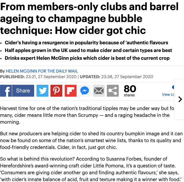The Daily Mail - How Cider Became Chic