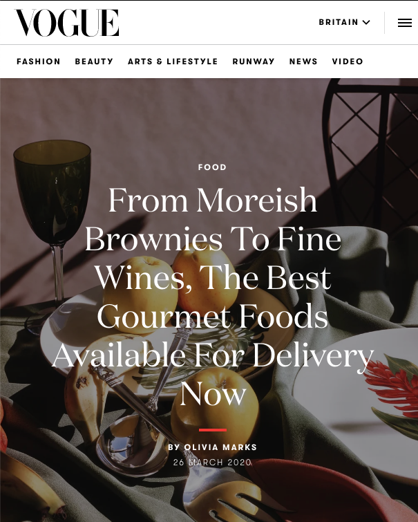 Vogue - The best fine food delivery services